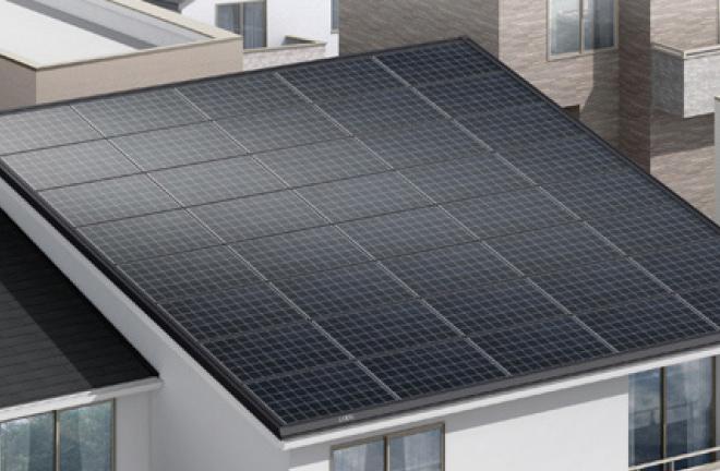 屋根一体型太陽光発電 イメージ